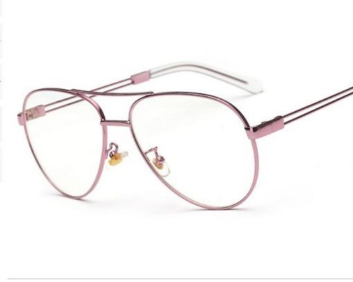 4ffe78dcb9e4d Armação Óculos De Grau Aviador Feminino Barato - R  60