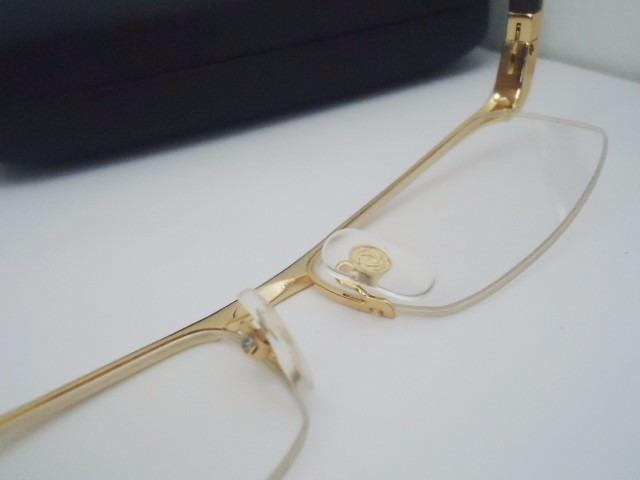 a44c501e9f98a Armação Oculos De Grau Cartier Acetato Dourado Meio Aro - R  119