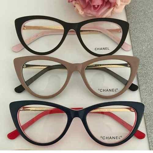 7081cf76d68c6 Armação Óculos De Grau Classico Feminino Acetato 12x S  Juro - R ...