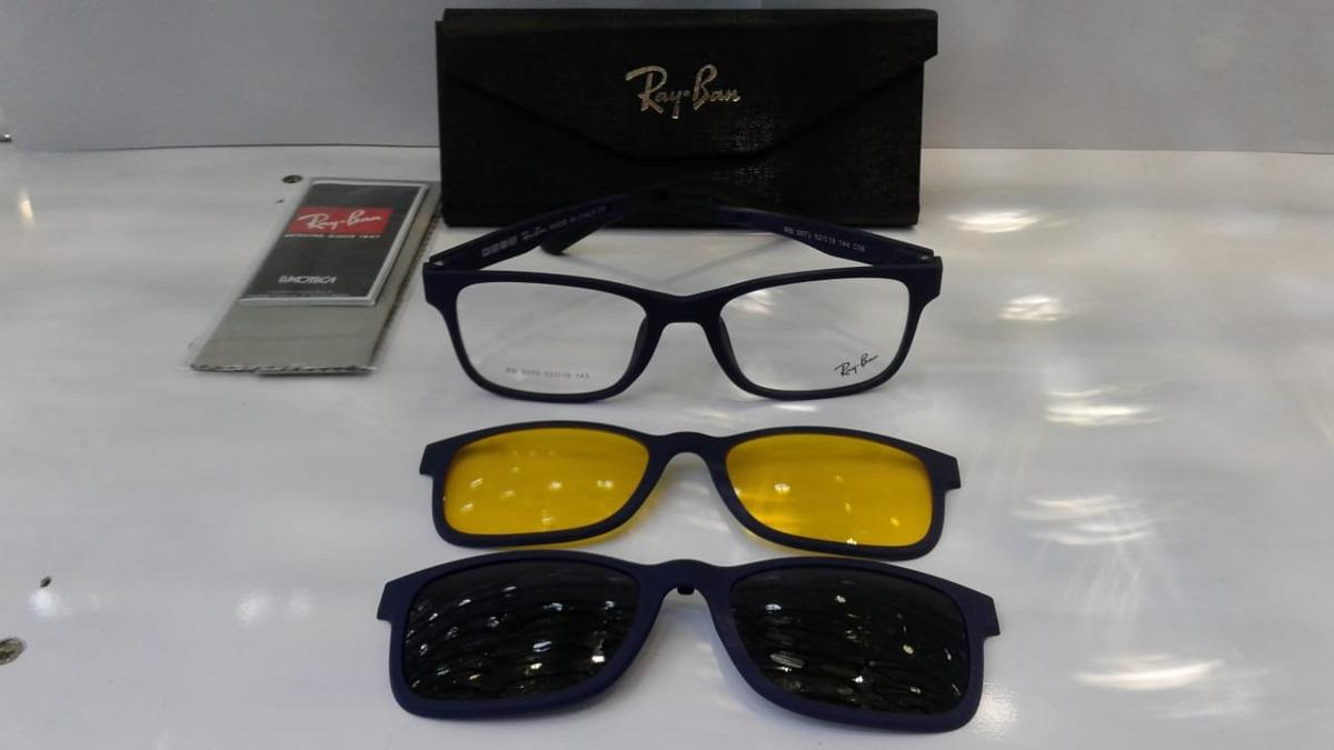 f8a7c783a668c Armação Óculos De Grau Clip On 2075 Original Promoção - R  110,00 em ...