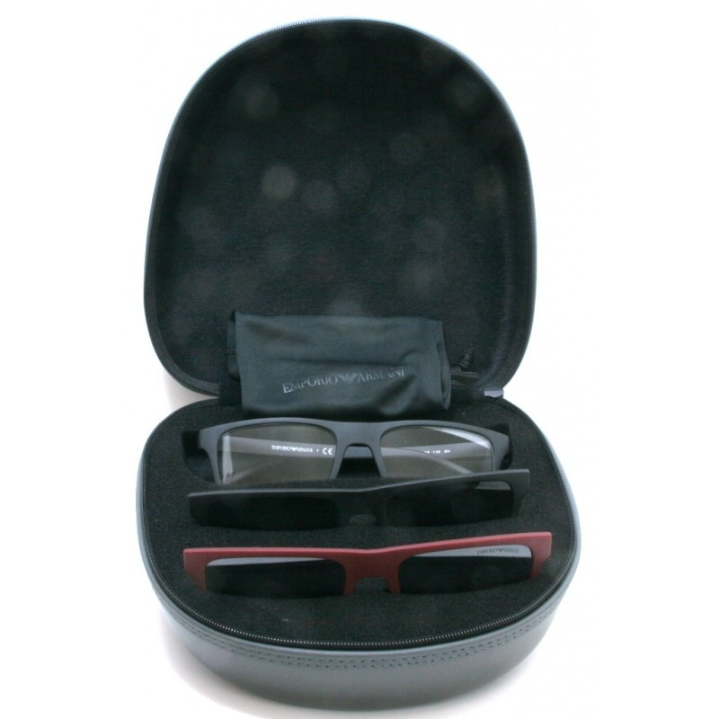 fe8def00c Armação Óculos De Grau Clip On Emporio Armani Ea 4115 - R$ 398,00 em ...