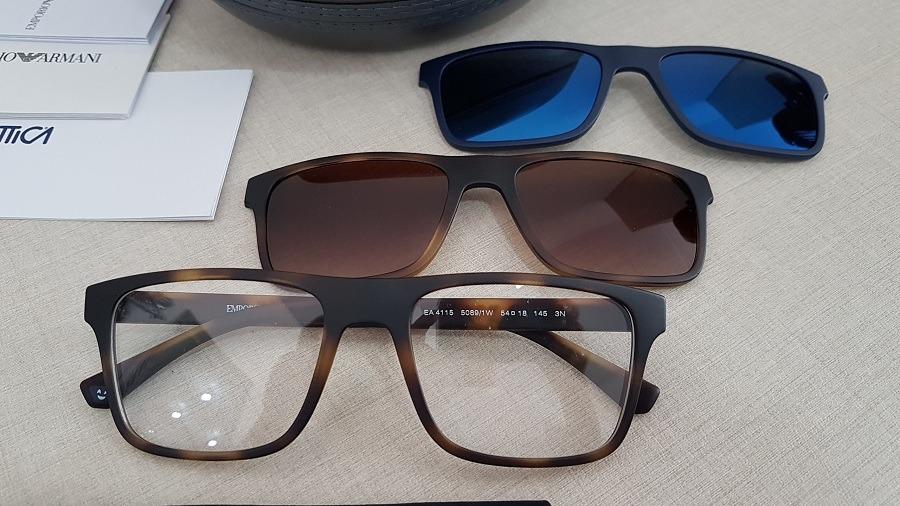 d44de5954 armação óculos de grau clip on emporio armani ea4115 50891w. Carregando  zoom.