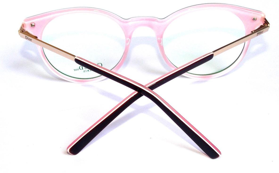 e30d910382a0d Armação Óculos De Grau D.201 Rosa Feminino Importado - R  105,00 em Mercado  Livre