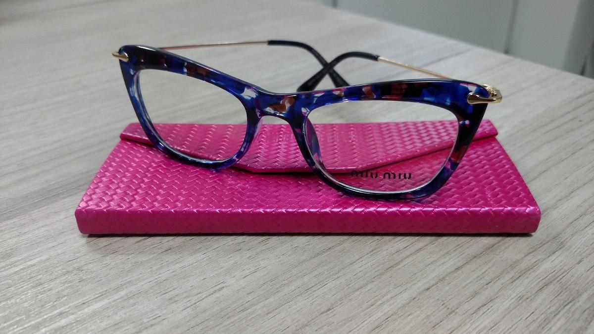 Armação Óculos De Grau Feminina Gatinho Havana Azul - R  199,90 em ... a4ca5dd720