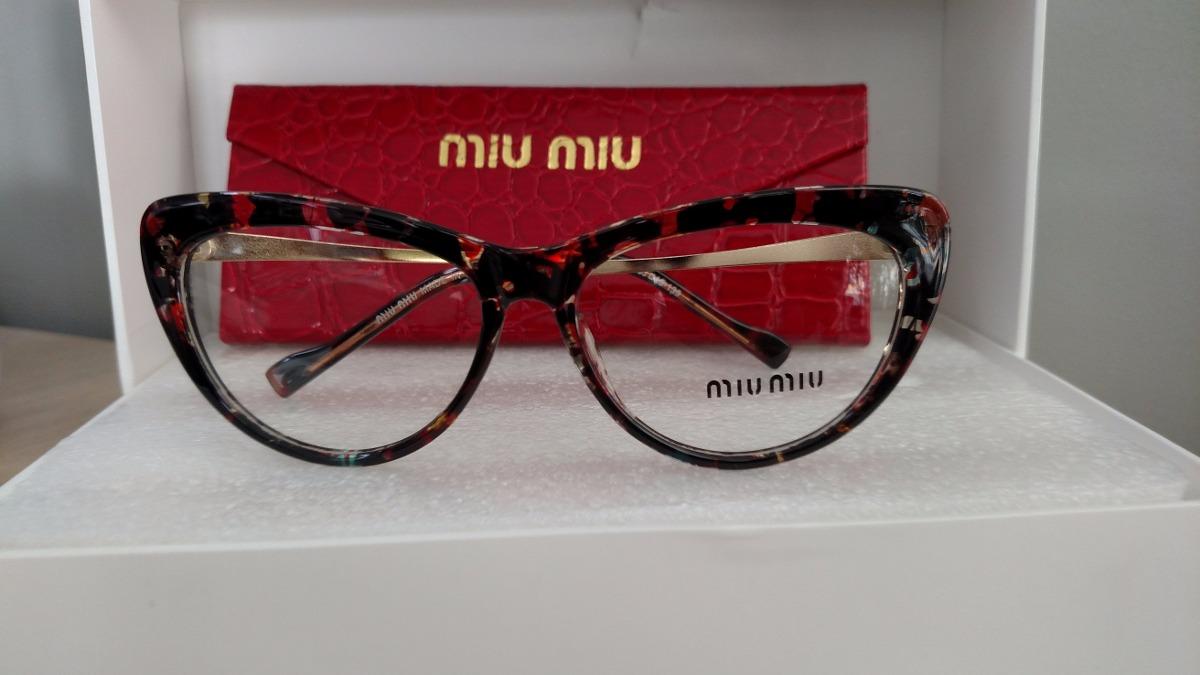 Armação Óculos De Grau Feminina Gatinho Tigrado - R  139,99 em ... ddaaeee669