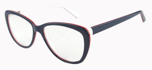 armação óculos de grau feminina vintage barato azul branco