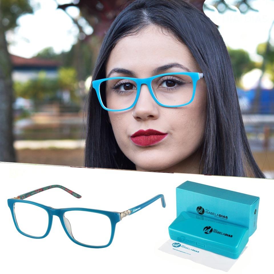 25b9bef9b armação oculos de grau feminino acetato isabela dias 3337. Carregando zoom.