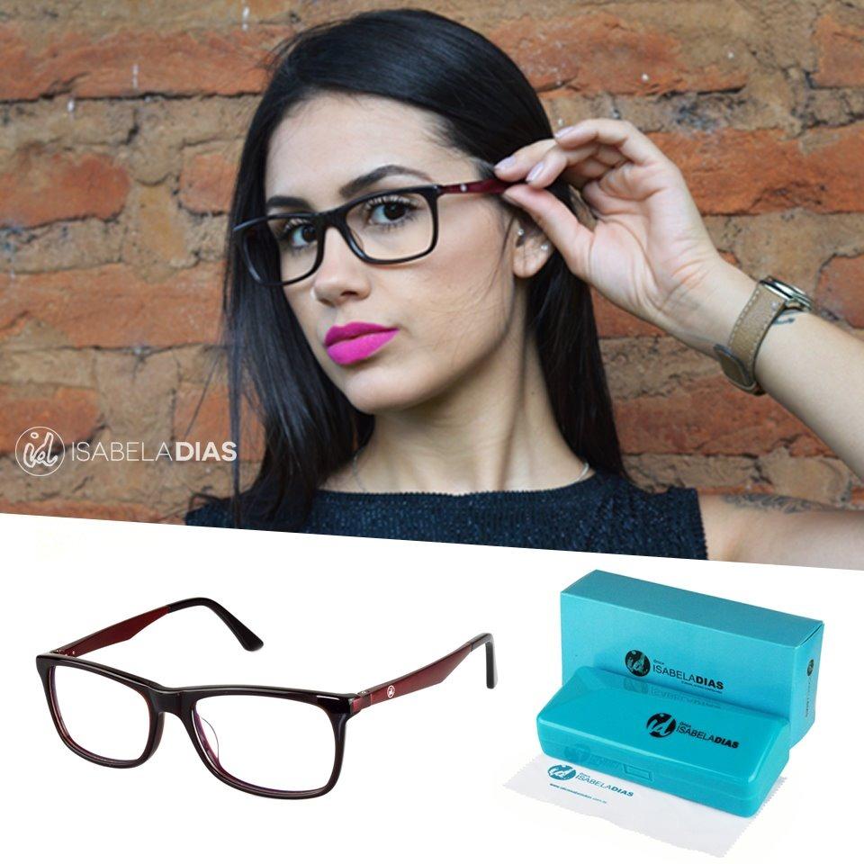 6c01d8f57 armação oculos de grau feminino acetato isabela dias 6027. Carregando zoom.