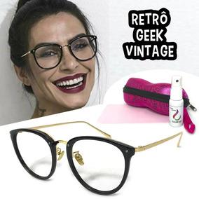 5a7b02cb3 Oculos Geek Sem Grau - Óculos no Mercado Livre Brasil
