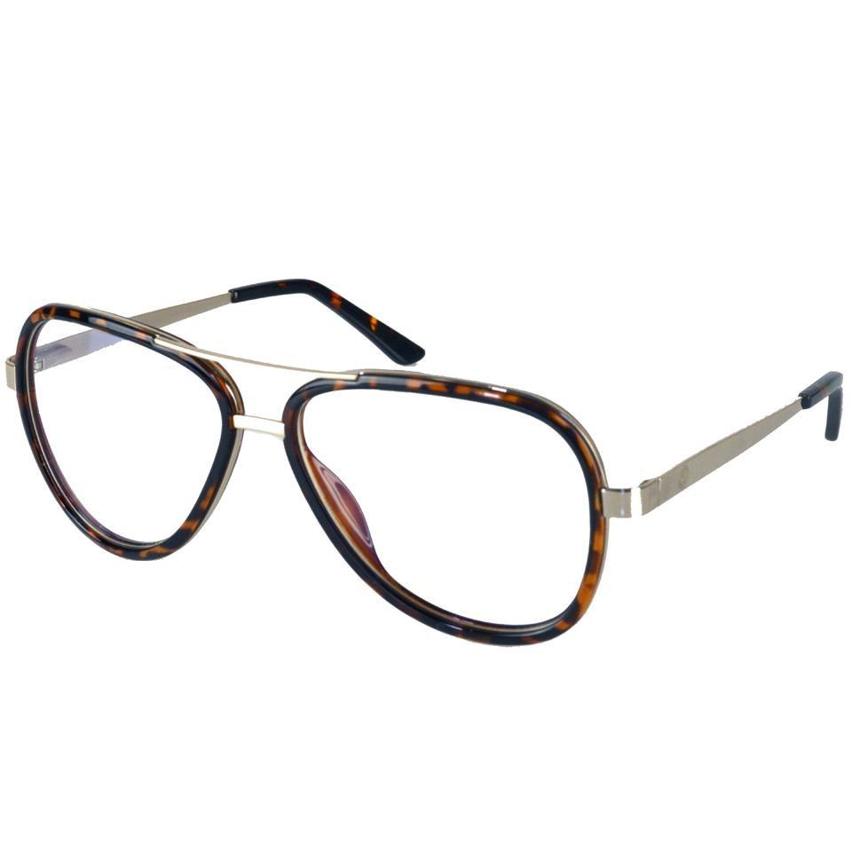 85d1bae0bbd6f Armação Óculos De Grau Feminino Aviador 13229 - R  110,99 em Mercado ...