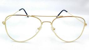 d2c2cf613 Armação Óculos De Grau Feminino Aviador Dourado Original 088