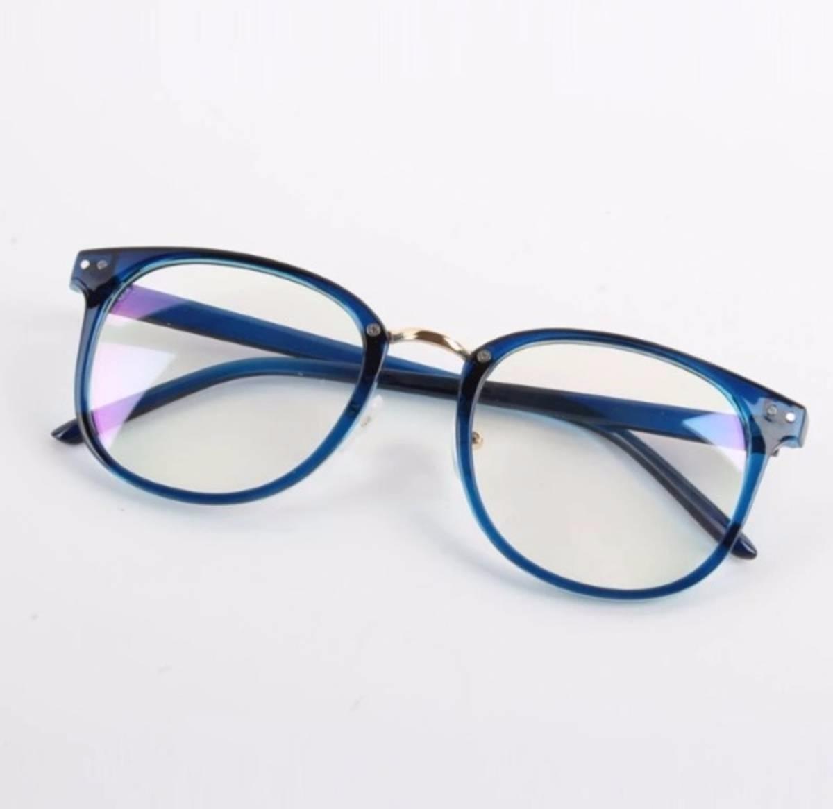 2c00ce103 Armação Óculos De Grau Feminino Azul - R$ 45,90 em Mercado Livre