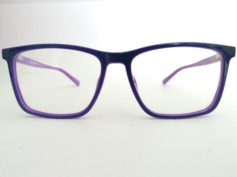 8caf2faed armação óculos de grau feminino azul com roxo 9028. Carregando zoom.