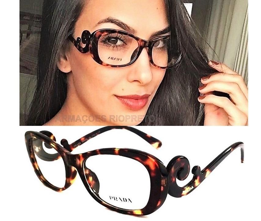 e841625d9bc51 armação óculos de grau feminino baroque oval tartaruga. Carregando zoom.