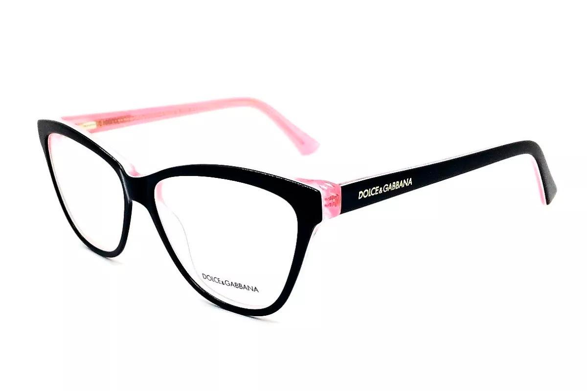 4d6ae703fdc0d armação óculos de grau feminino dg3229 preto rosa - original. Carregando  zoom.
