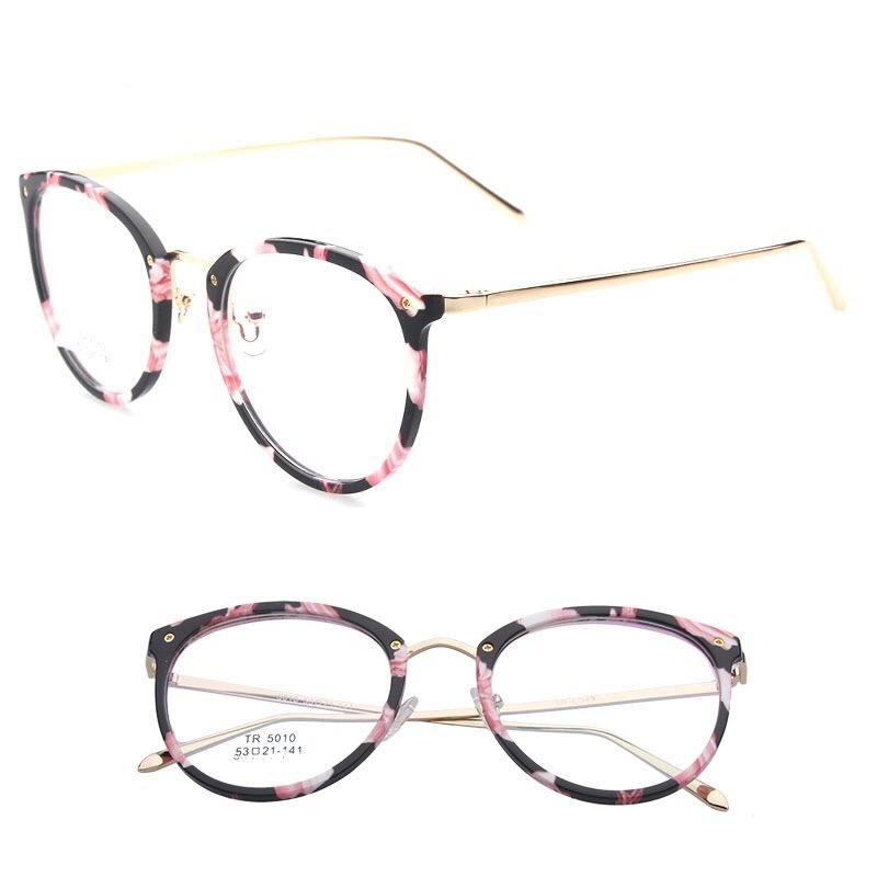 armação óculos de grau feminino floral vintage redondo retrô. Carregando  zoom. 033cf4b5d8