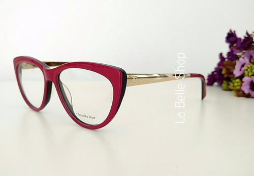 67b92f0998cf7 Armação Óculos De Grau Feminino Gatinha Cd3291 - R  120