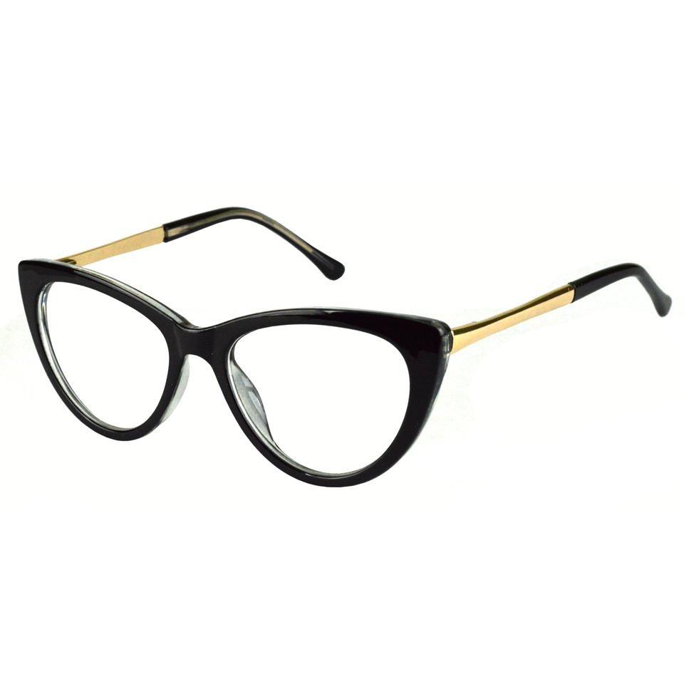 Armação Óculos De Grau Feminino Gatinho 105 Preto - R  69,50 em ... 8028e68baa