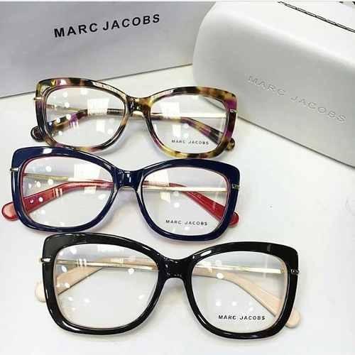 Armação Óculos De Grau Feminino Gatinho Marc Jacobs+brinde - R  130 ... 052587ef4e