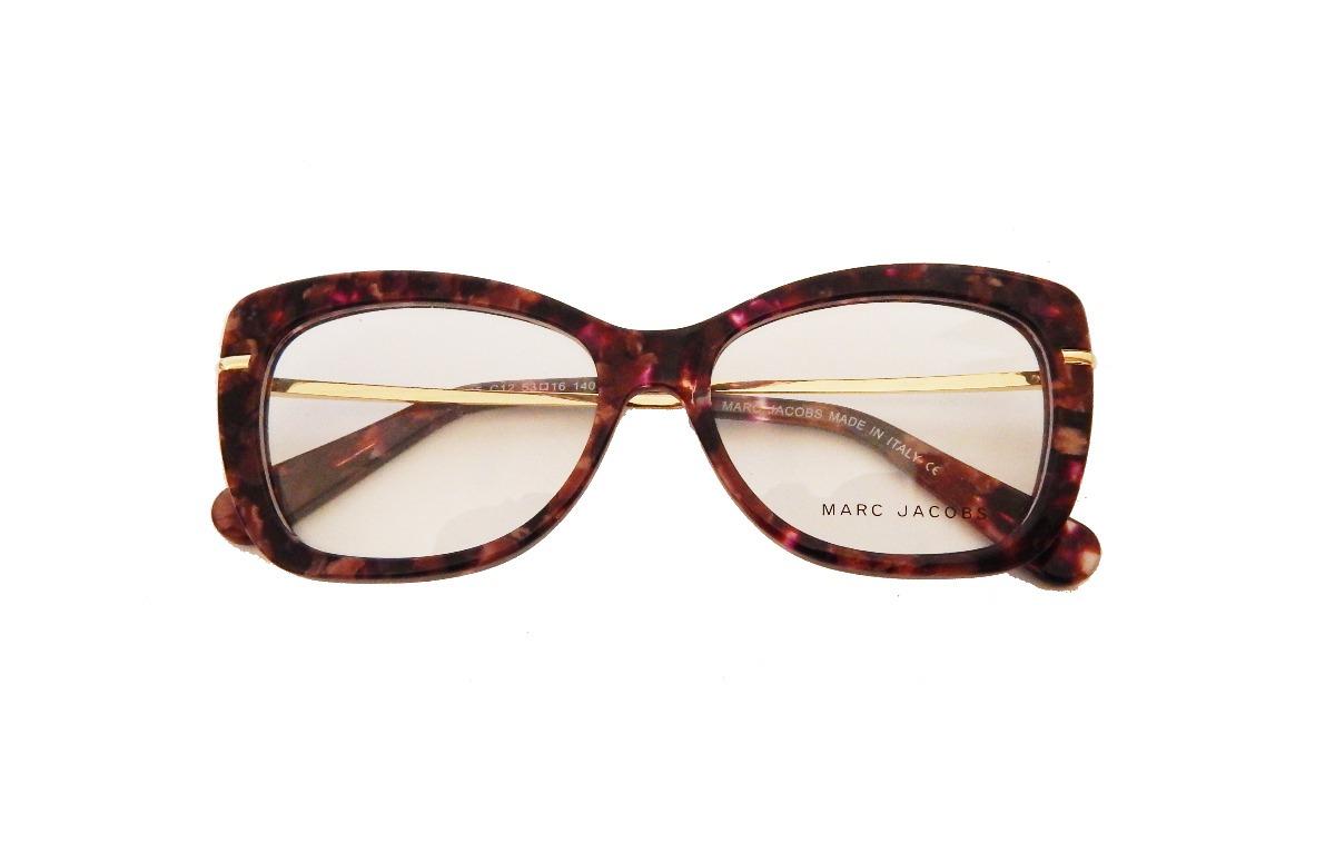 936a28e5b10eb armação óculos de grau feminino gatinho marc jacobs perola. Carregando zoom.