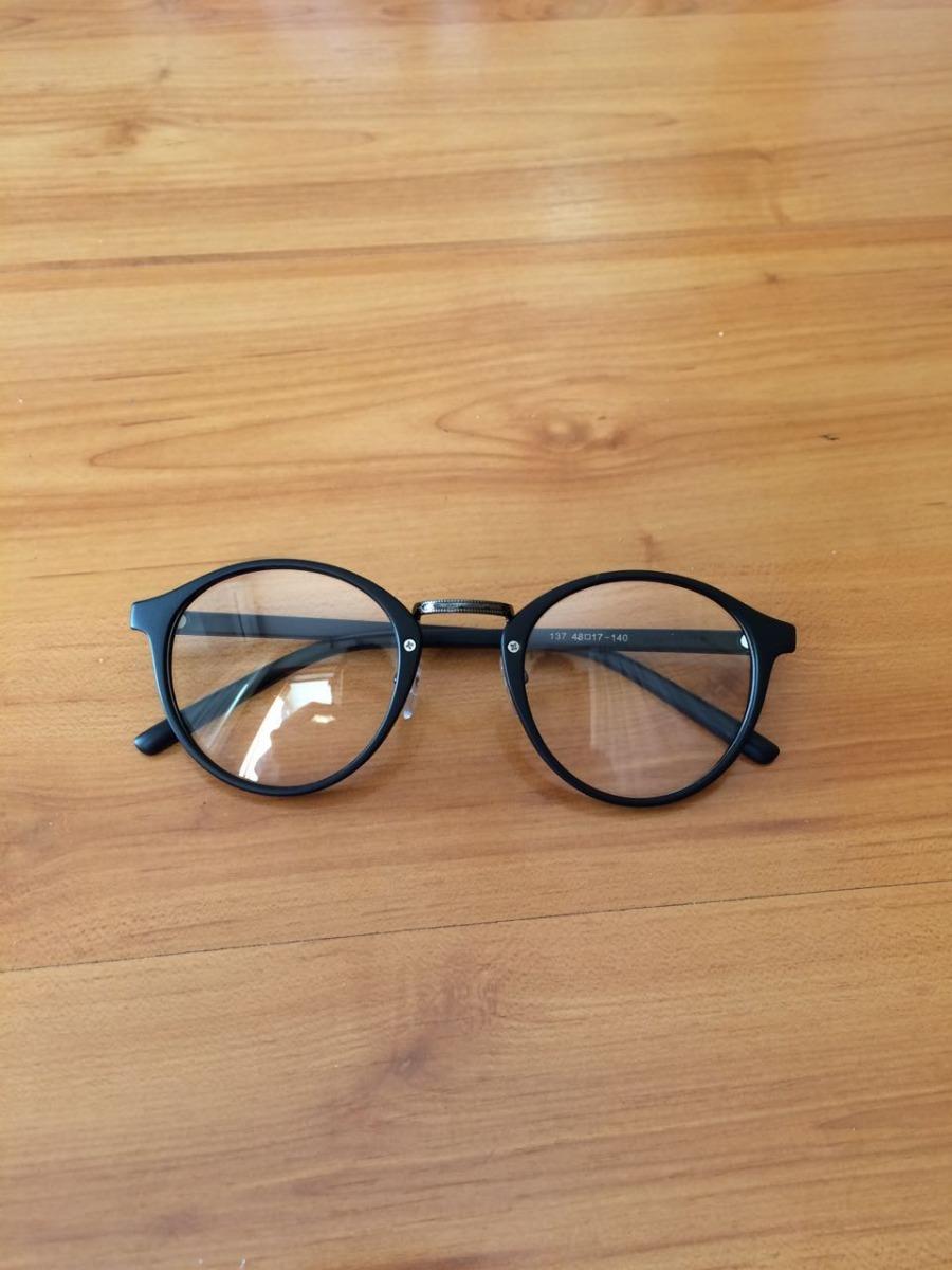 74140c0c65023 armação óculos de grau feminino masculino preto redondo. Carregando zoom.