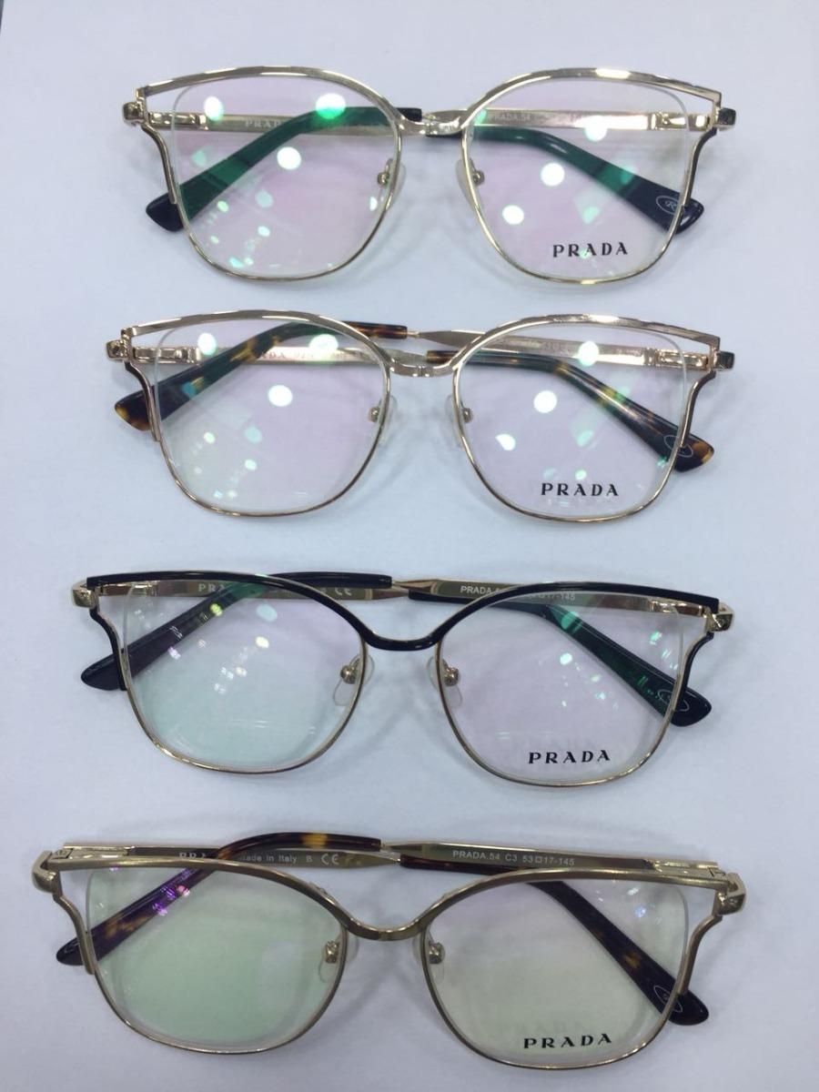 7df86fee0 armação óculos de grau feminino modelo prada várias cores. Carregando zoom.