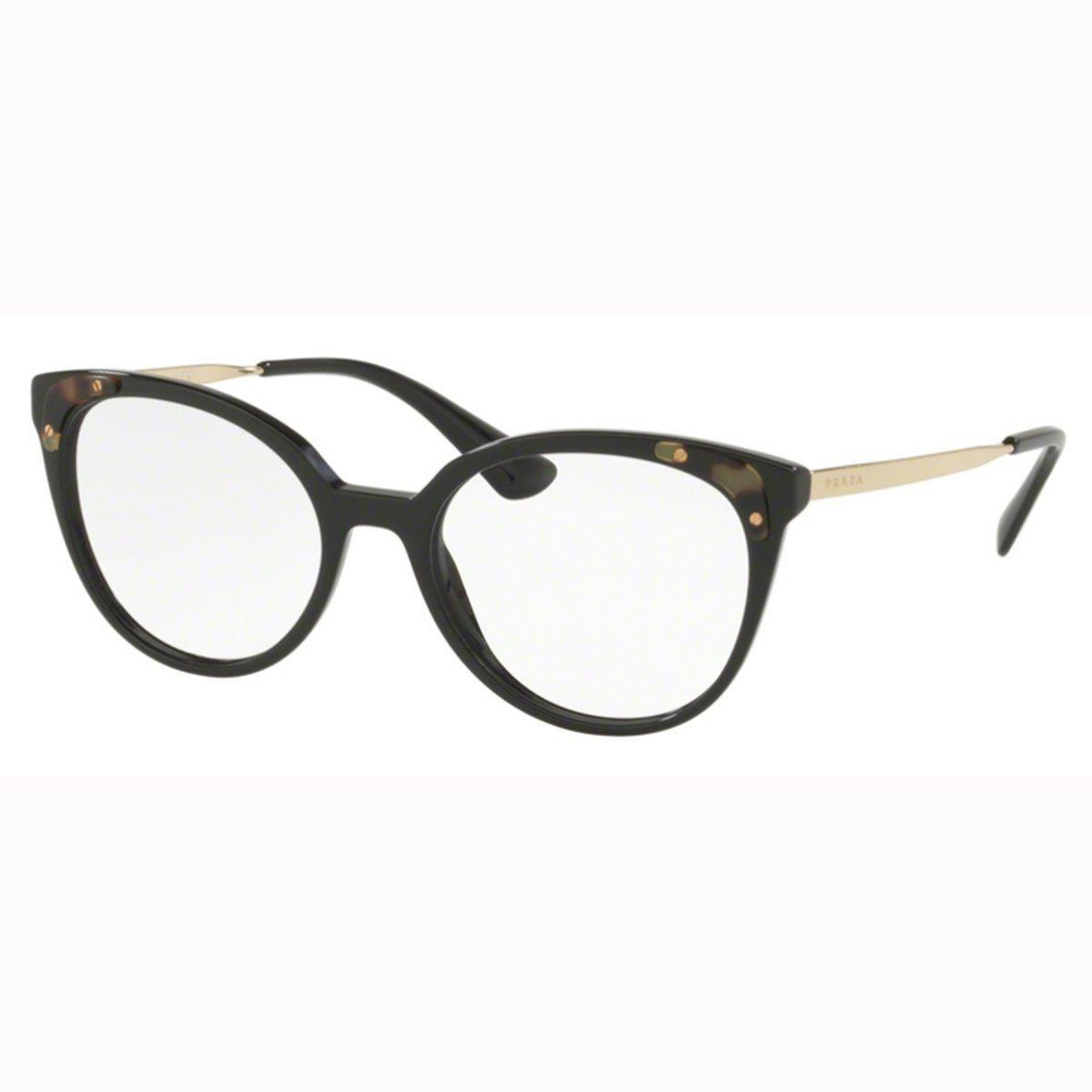 Armação Óculos De Grau Feminino Prada Vpr12u 1ab-101 - R  799,00 em ... 7efb83d985