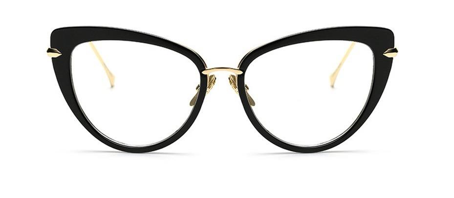 b78e47cd7 Armação Óculos De Grau Feminino Preto Gatinho - R$ 35,00 em Mercado ...