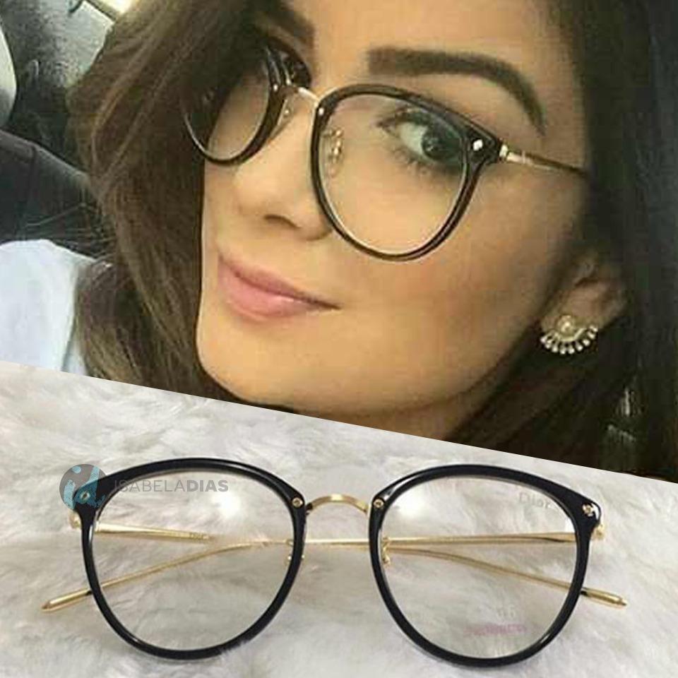 b8230e1279080 armação óculos de grau feminino preto quadrado redondo retro. Carregando  zoom.