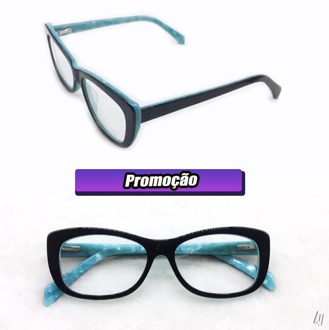b444d4fe75848 Armação Óculos De Grau Feminino Quadrado Médio A035 - R  65