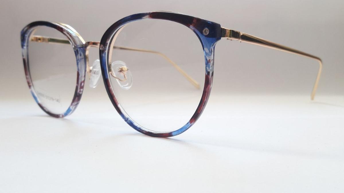 c4ab49a1fc1bf armação óculos de grau feminino retro redondo grande barato. Carregando  zoom.