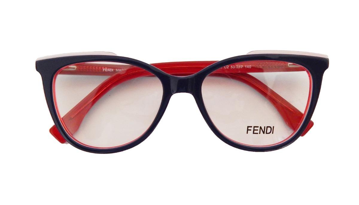 e747ee37cb4ad armação óculos de grau fendi acetato f0251 feminino gatinho. Carregando  zoom.