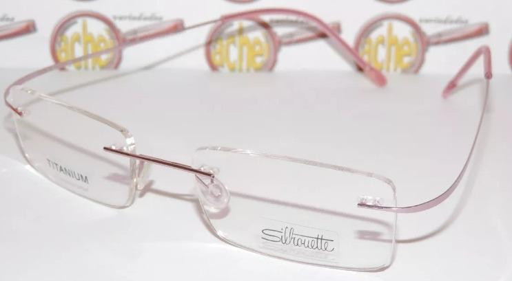 177c0ede1 Armação Oculos De Grau Flexivel Silhouette Titanium Rosa - R$ 79,99 ...