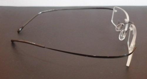 105b59a1d Armação Oculos De Grau Flexivel Silhouette Titanium Sem Aro - R$ 79 ...