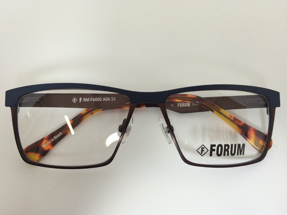 9ecacb74a Armação Óculos De Grau Forum F6005a0655 Frete Grátis - R$ 278,00 em ...