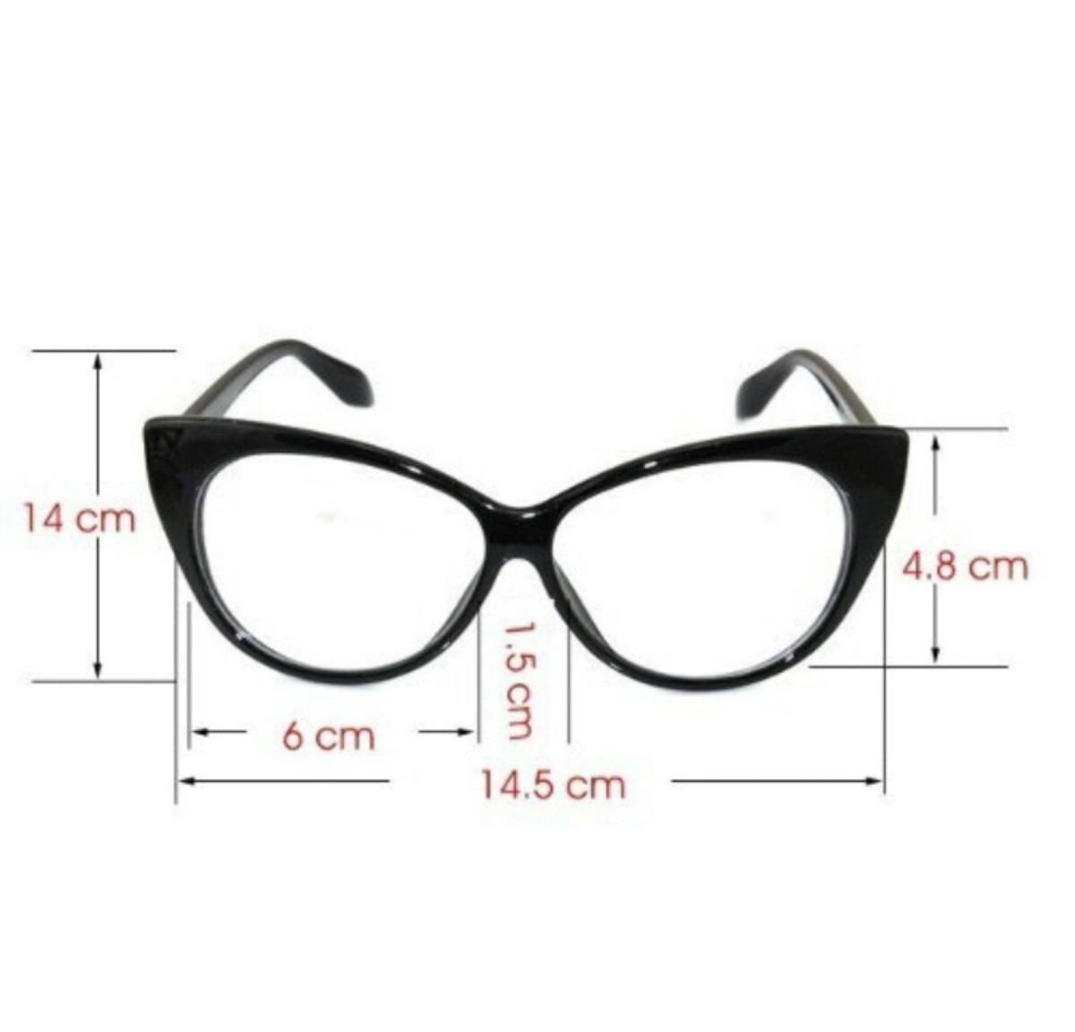 287ea759314 Armação Óculos De Grau Gatinho Blogueira Retro Vintage - R  29