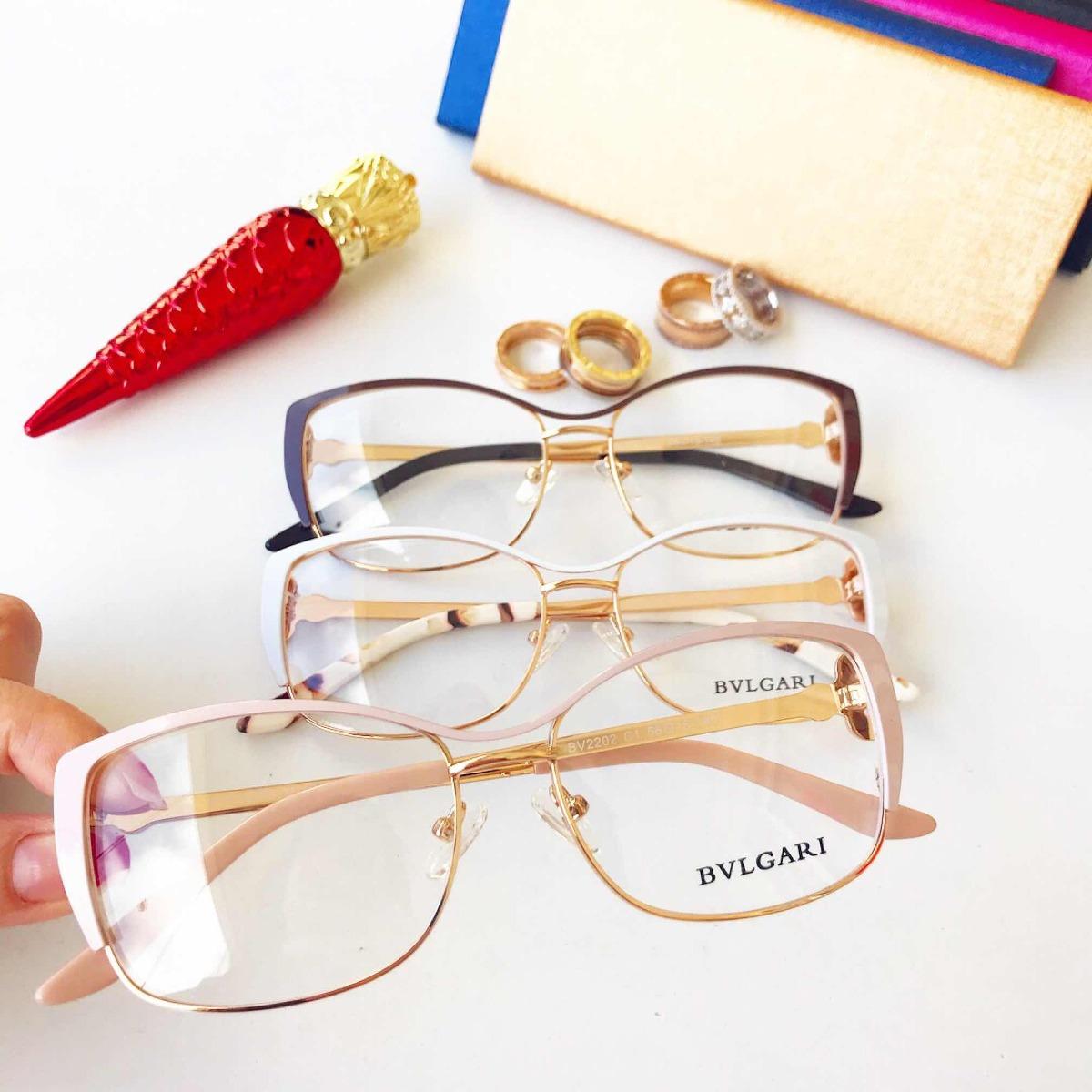 Armação Óculos De Grau Gatinho Com Strass Feminino - R  120,00 em ... b33dea9303