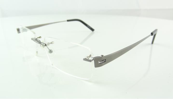 Armação Oculos De Grau Grafite Sem Aro Metal Super Leve A749 - R  79 ... 7e8e5f0def