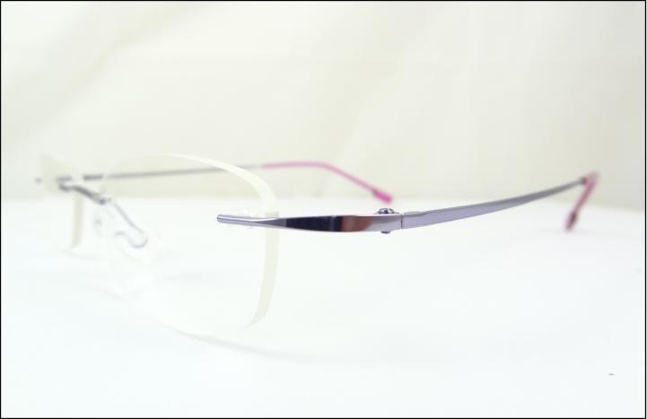 45095d361 Armação Óculos De Grau Lilas Sem Aro Feita De Titanium A539 - R$ 69 ...
