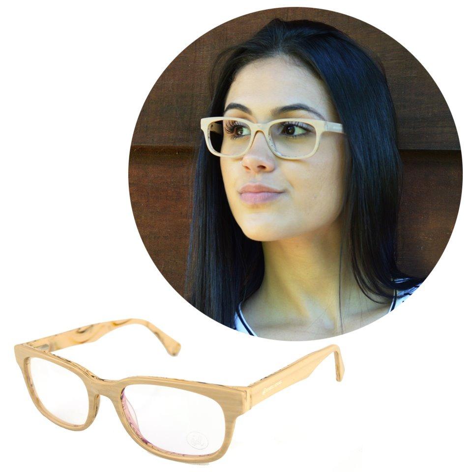 f64f26711 Armação Oculos De Grau Madeirado Quadrado Isabela Dias 816 - R$ 76 ...
