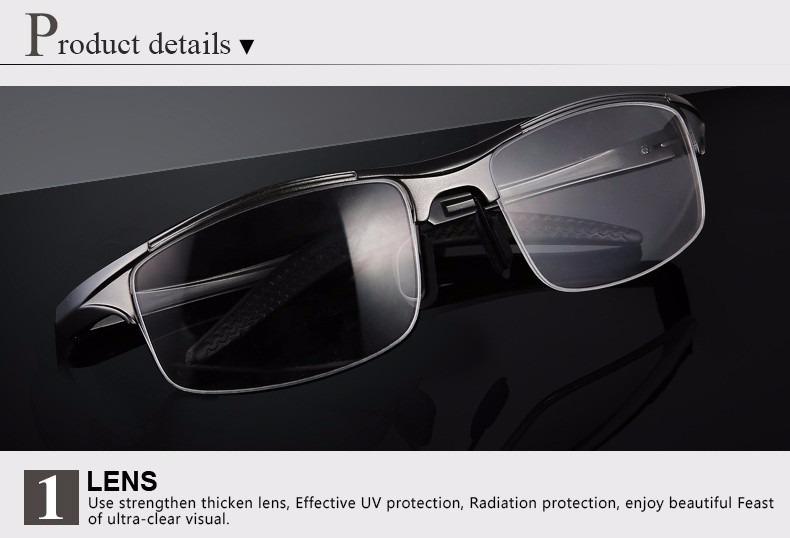 93edfcc822b62 Armação Óculos De Grau Masculina Esportiva Alumínio V. Cores - R  76 ...