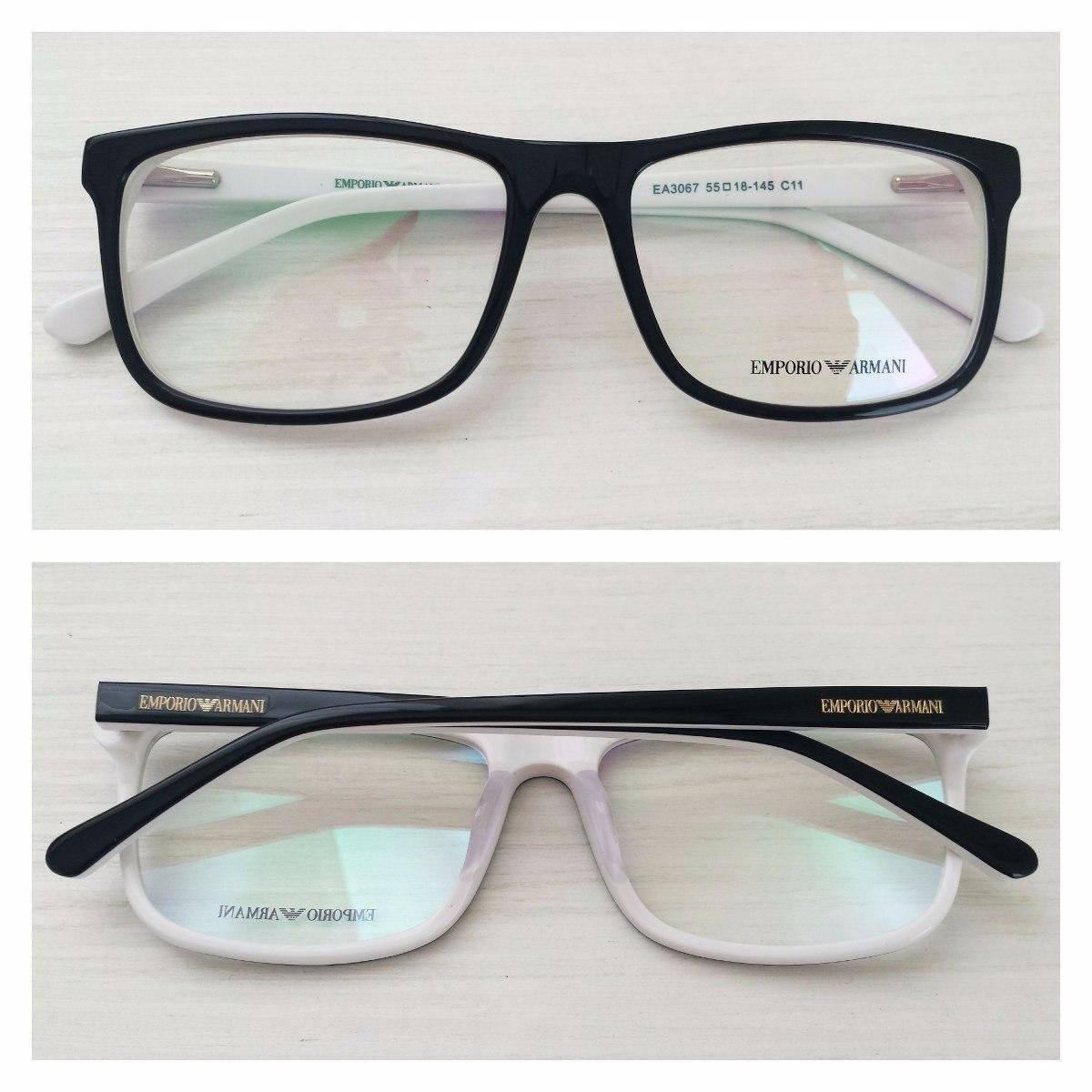 Armação Óculos De Grau Masculino Armani Ea3067 - R  114,00 em ... f9b102cad1