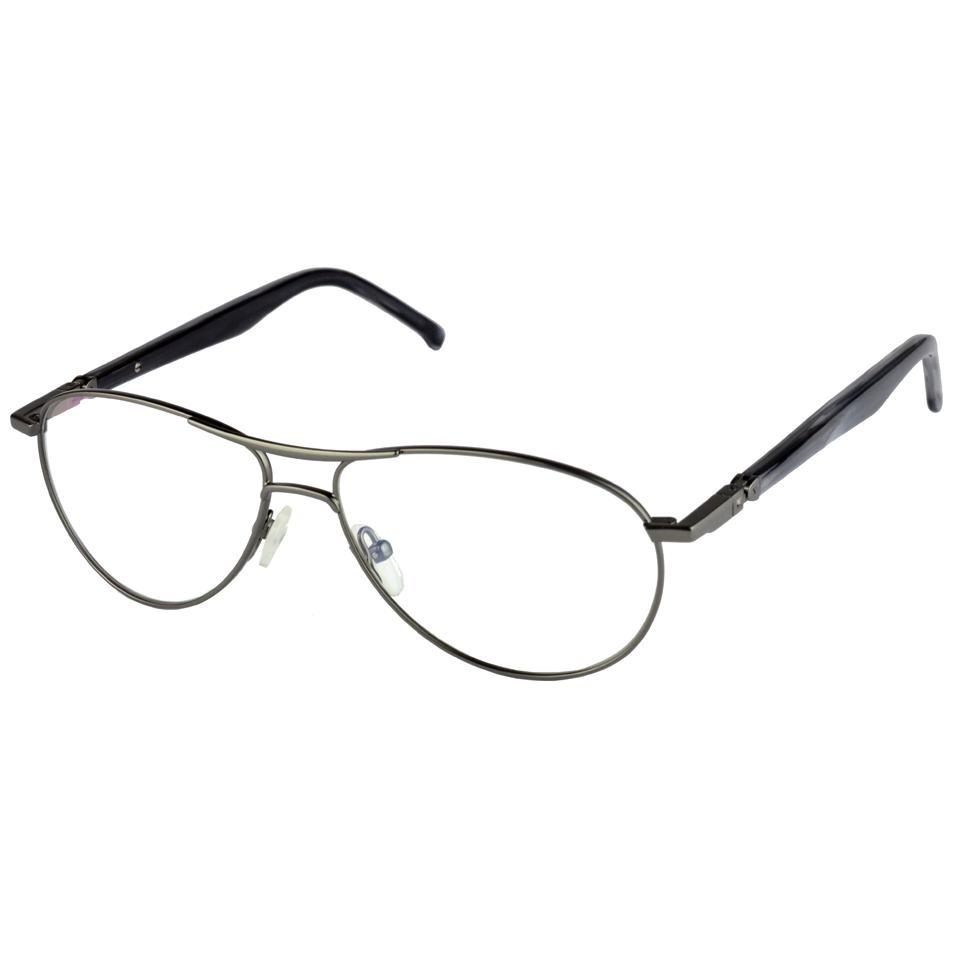 5c7134d08b46e Armação Óculos De Grau Masculino Aviador Metal 13100 - R  69,50 em ...