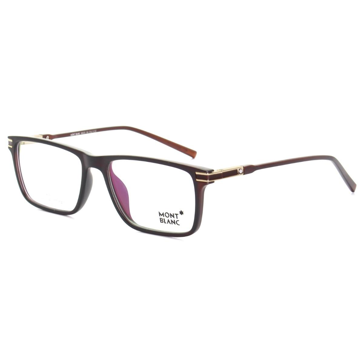 96b1c9d180465 armação óculos de grau masculino mont blanc mb568 acetato. Carregando zoom.