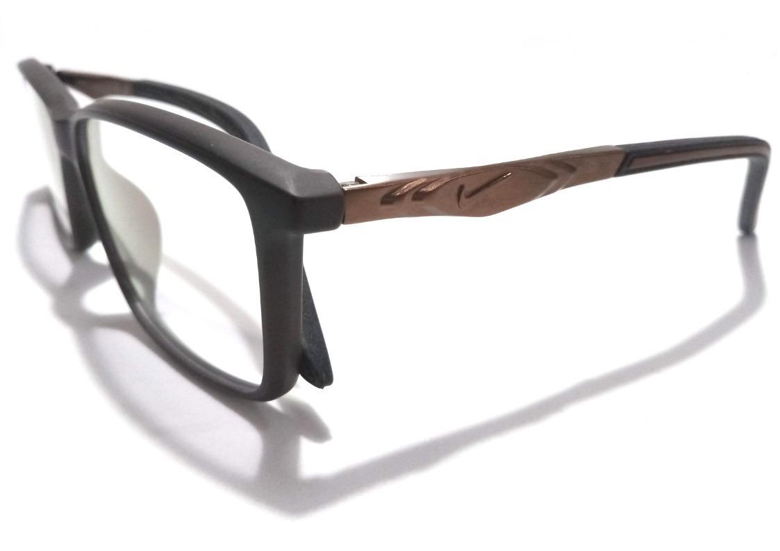 9bc1fcad91950 armação óculos de grau masculino nike hastes com molas. Carregando zoom.