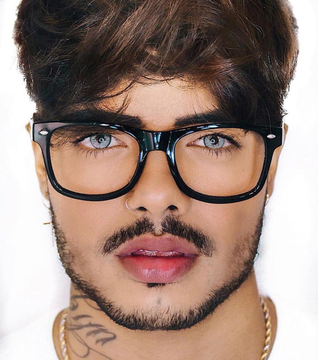 armação óculos de grau masculino quadrado preto. Carregando zoom. 3233c46ec2