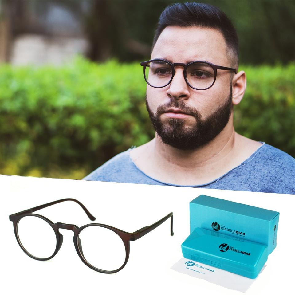 6702160c6f3f4 armação óculos de grau masculino redondo retrô origina 62019. Carregando  zoom.