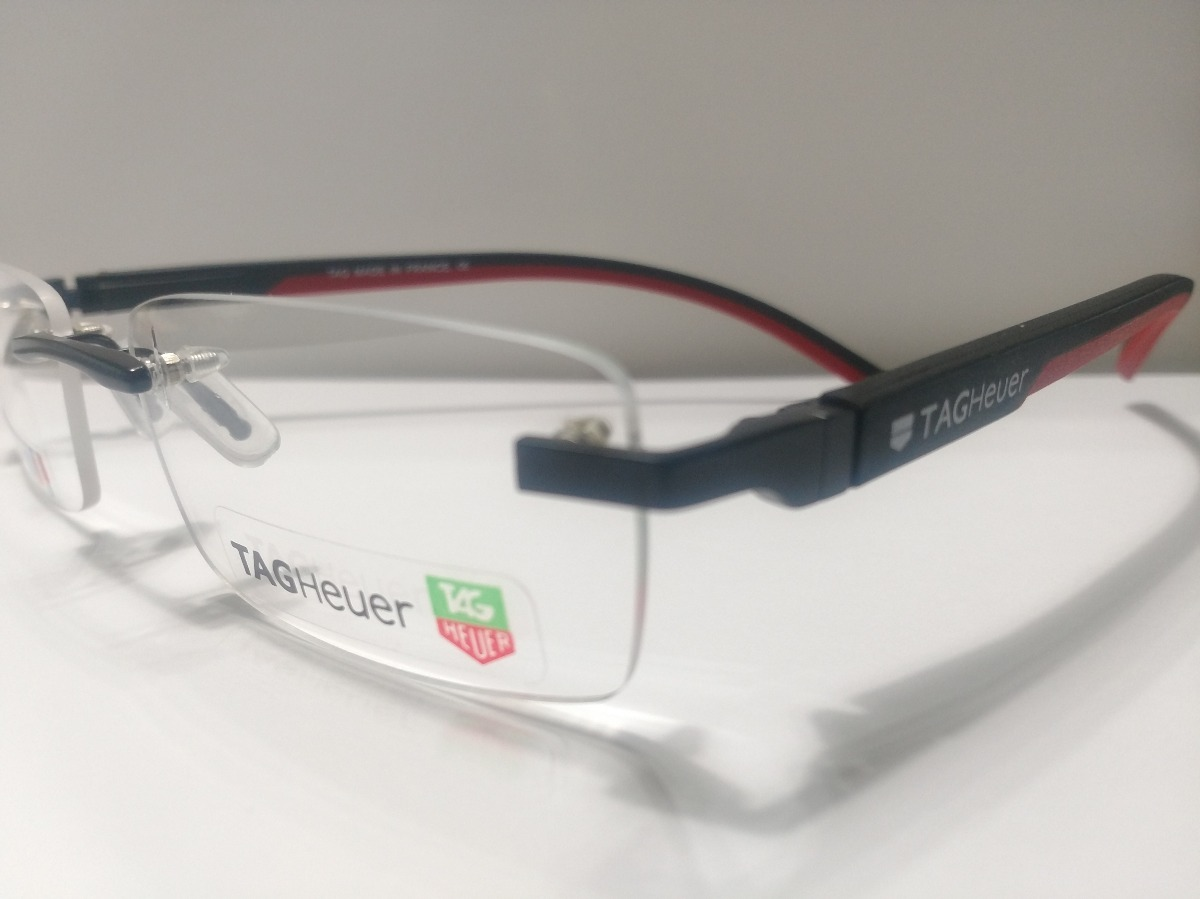 54601b08a625f Armação Oculos De Grau Mod Tag Heuer Sem Aro Th-0843 - R  93,79 em ...