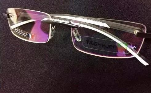 Armação Óculos De Grau Model Tagheuer S Aro Th-0843 Silicone - R  94 ... 3c2163ba19