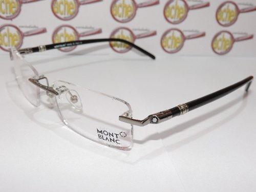 de597e85fe9c6 Armação Oculos De Grau Mont Blanc Mb89 Grafite Sem Aro - R  119